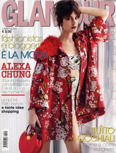 Cover GLAMOUR Italie avril 2014