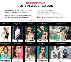 Invit Vente Presse PRESSMIXER - 14 et 15 avril